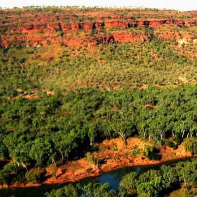 Ancient Landscape Of The Gregory River National Park.