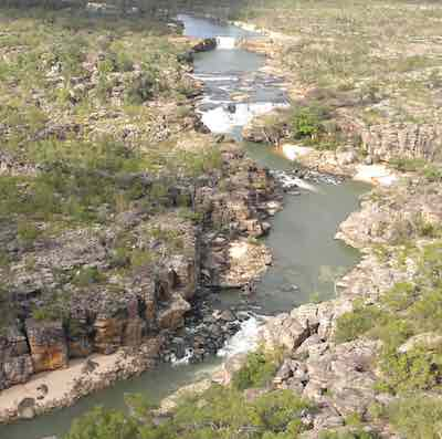 Soaring Above Katherine/Nitmiluk Gorge Taking In The Slendour Of The Cliff Walls